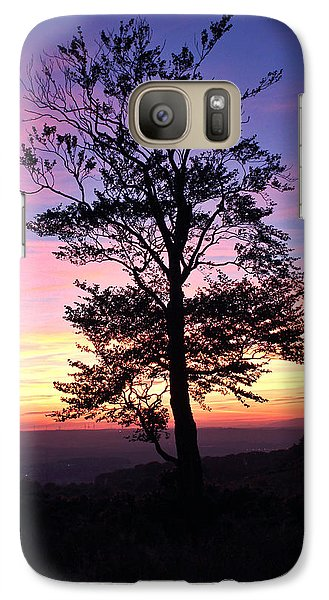 Galaxy Case featuring the photograph Sunset Tree by RKAB Works