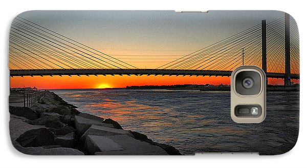 Sunset Under The Indian River Inlet Bridge Galaxy S7 Case