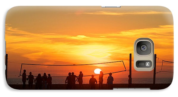 Galaxy Case featuring the photograph Sunset Volleyball by Kim Wilson