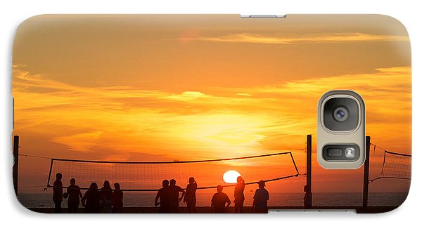 Sunset Volleyball Galaxy S7 Case by Kim Wilson