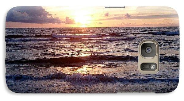 Galaxy Case featuring the photograph Sunset Waves 1 by Vicky Tarcau