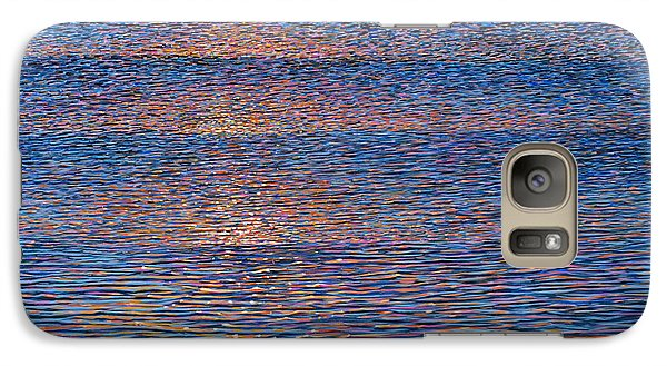 Galaxy Case featuring the painting Sunset Waves by Laurie Stewart