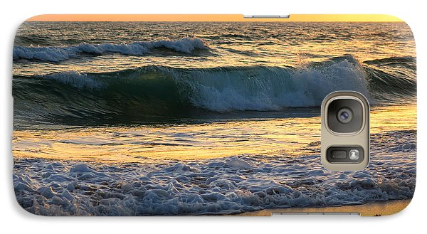 Galaxy Case featuring the photograph Sunset Waves by Rebecca Hiatt