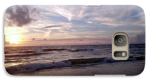Galaxy Case featuring the painting Sunset Waves  by Vicky Tarcau