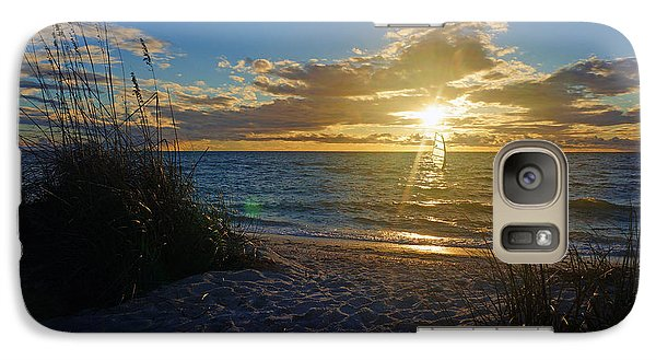 Galaxy Case featuring the photograph Sunset Windsurfer by Robb Stan