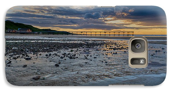 Sunset With Saltburn Pier Galaxy S7 Case