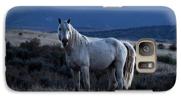 Sunset With Wild Stallion Tripod In Sand Wash Basin Galaxy S7 Case