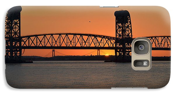Galaxy Case featuring the photograph Sunset's Last Light Bridges Over Jamaica Bay by Maureen E Ritter