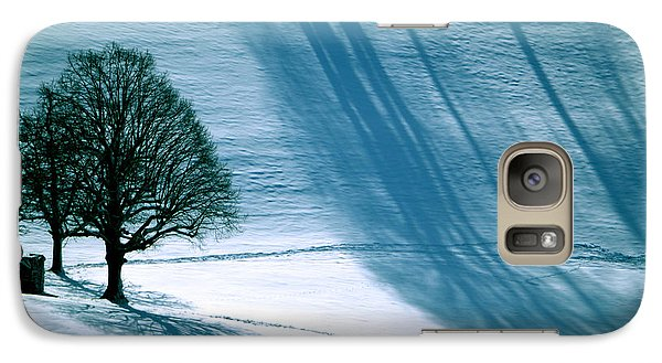 Galaxy Case featuring the photograph Sunshine And Shadows - Winterwonderland by Susanne Van Hulst