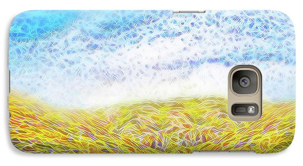 Galaxy Case featuring the digital art Sunshine Path - Field In Marin California by Joel Bruce Wallach