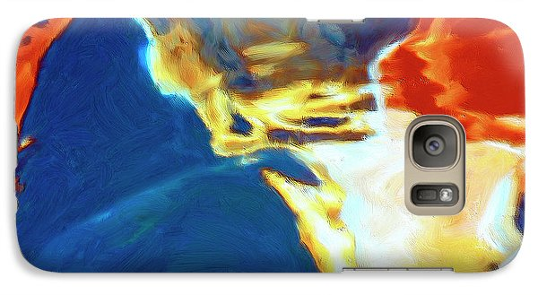 Galaxy Case featuring the painting Sunspot by Dominic Piperata