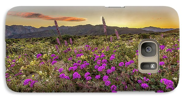 Galaxy Case featuring the photograph Super Bloom Sunset by Peter Tellone