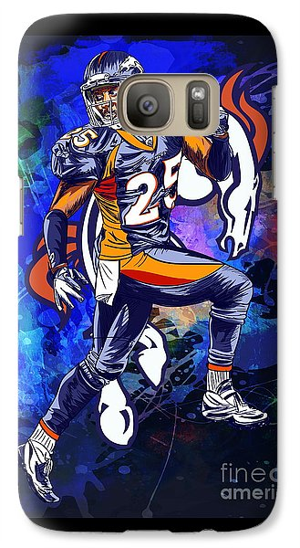 Galaxy Case featuring the drawing Super Bowl 2016  by Andrzej Szczerski
