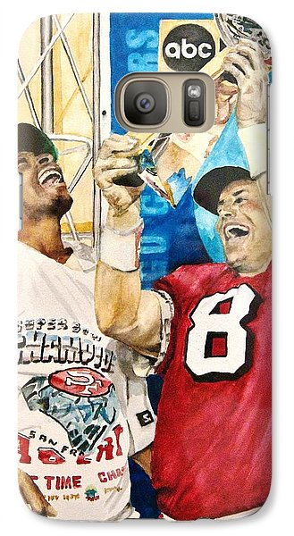 Galaxy Case featuring the painting Super Bowl Legends by Lance Gebhardt
