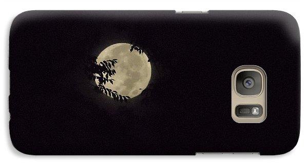 Galaxy Case featuring the photograph Super Moon At Dawn by Deborah Moen