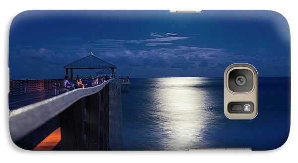 Galaxy Case featuring the photograph Super Moon At Juno by Laura Fasulo