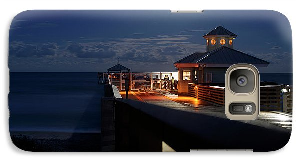 Galaxy Case featuring the photograph Super Moon At Juno Pier by Laura Fasulo