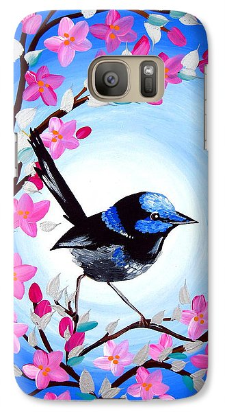 Superb Fairy Wren Galaxy Case by Cathy Jacobs