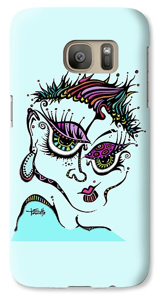 Galaxy Case featuring the drawing Superfly by Tanielle Childers