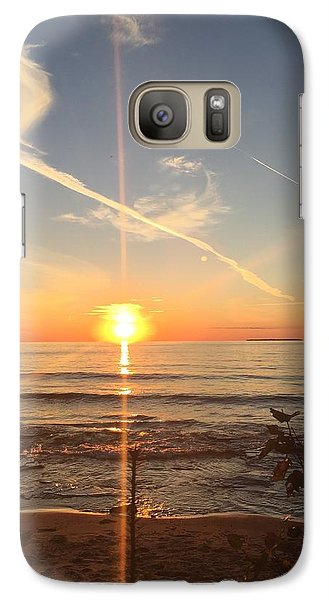 Galaxy Case featuring the photograph Superior Sunset by Paula Brown