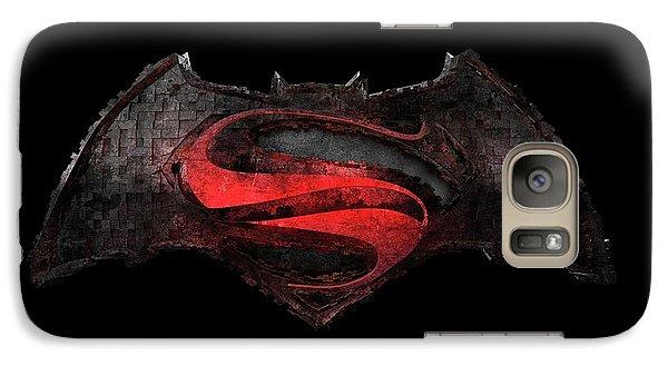 Galaxy Case featuring the photograph Superman Vs Batman by Louis Ferreira