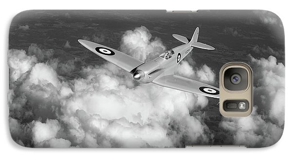 Galaxy Case featuring the photograph Supermarine Spitfire Prototype K5054 Black And White Version by Gary Eason