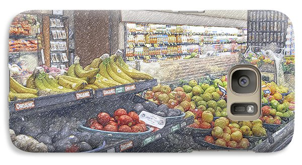 Galaxy Case featuring the photograph Supermarket Produce Section by David Zanzinger