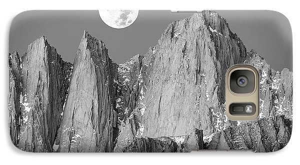Galaxy Case featuring the photograph Supermoon And Mount Whitney. by Johnny Adolphson