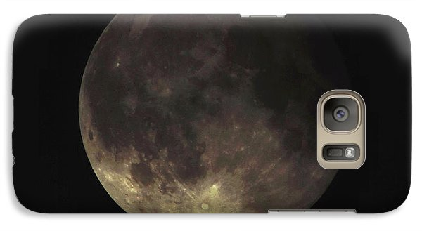 Galaxy Case featuring the photograph Supermoon Blood Moon 001 by Lance Vaughn