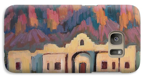 Galaxy Case featuring the painting Superstition Mountain Evening by Diane McClary