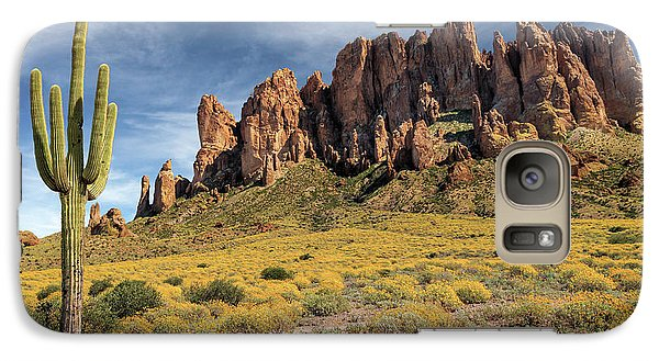 Galaxy Case featuring the photograph Superstition Mountains Saguaro by James Eddy