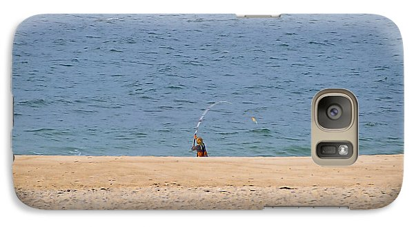Galaxy Case featuring the photograph Surf Caster by  Newwwman