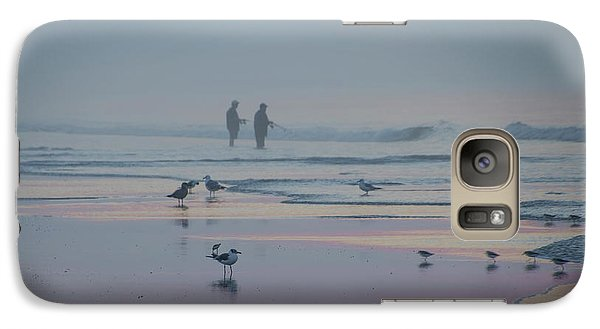 Galaxy Case featuring the photograph Surf Fishing In Wildwood by Bill Cannon