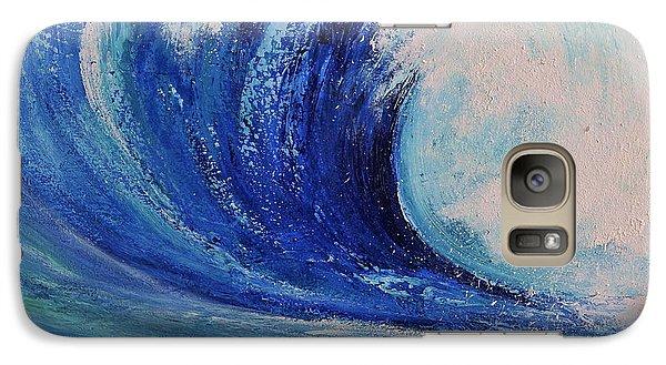 Galaxy Case featuring the painting Surf by Teresa Wegrzyn