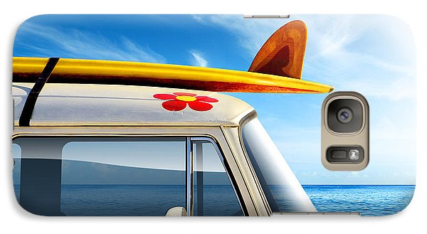 Transportation Galaxy S7 Case - Surf Van by Carlos Caetano