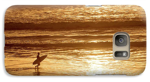 Galaxy Case featuring the photograph Surfer by Delphimages Photo Creations