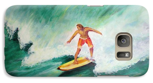 Galaxy Case featuring the painting Surfer Dude by Patricia Piffath