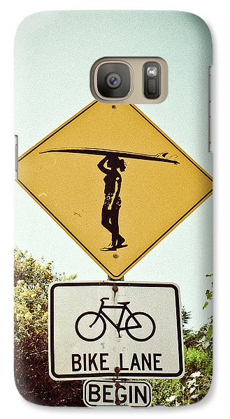 Galaxy S7 Case featuring the photograph Surfer Girl by Ana V Ramirez