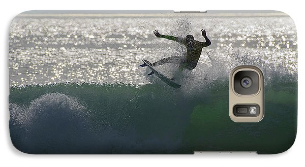 Galaxy Case featuring the photograph Surfing The Light by Thierry Bouriat
