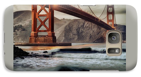 Galaxy Case featuring the photograph Surfing The Shadows Of The Golden Gate Bridge by Steve Siri