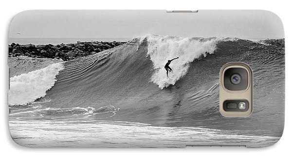 Galaxy Case featuring the photograph Surf's Up Bw by Eddie Yerkish