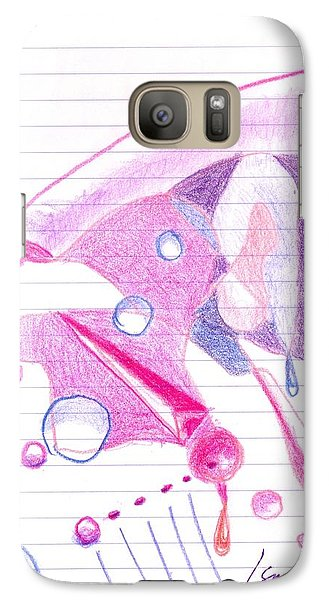 Galaxy S7 Case featuring the drawing Surgeries 2008 - Abstract by Rod Ismay