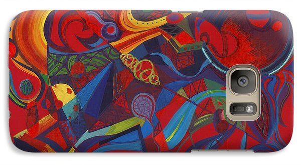 Galaxy Case featuring the painting Surreal Medieval Weaponry by Shawna Rowe