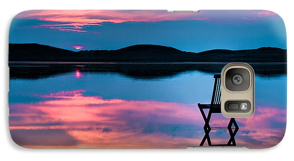 Galaxy Case featuring the photograph Surreal Sunset by Gert Lavsen