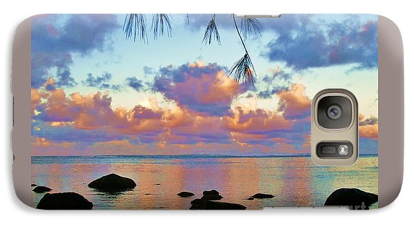 Galaxy Case featuring the photograph Surreal Sunset by Michele Penner