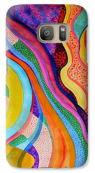 Galaxy Case featuring the painting Surreptitious by Polly Castor