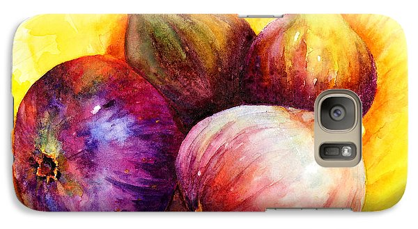 Galaxy Case featuring the painting Susan's Figs by Bonnie Rinier