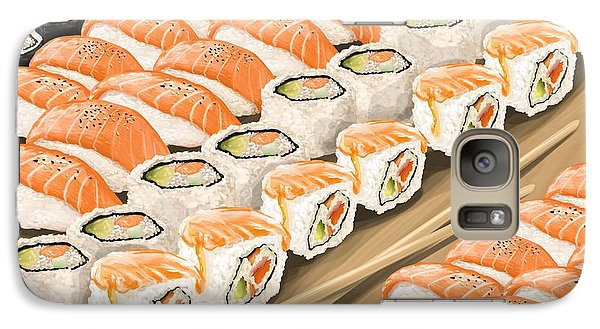 Galaxy Case featuring the painting Sushi by Veronica Minozzi