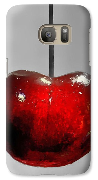 Galaxy Case featuring the photograph Suspended Cherry by Suzanne Stout