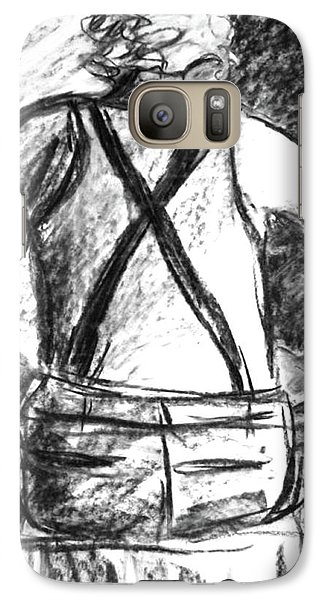 Galaxy Case featuring the painting Suspenders by Cathie Richardson